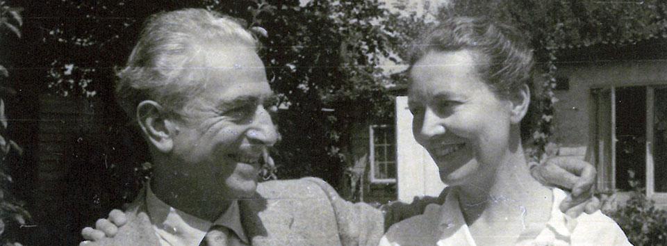 Felice e Daphne a Pavarolo 1950 circa