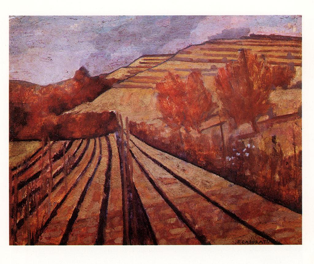 Paesaggio autunnale a Pavarolo 1950